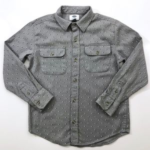 Boys Old Navy Gray Button Down Shirt M (8)